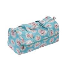 HobbyGift Cameo Blue Floral Knitting / Craft / Crochet Bag - 15cm x 42cm x 17.5cm