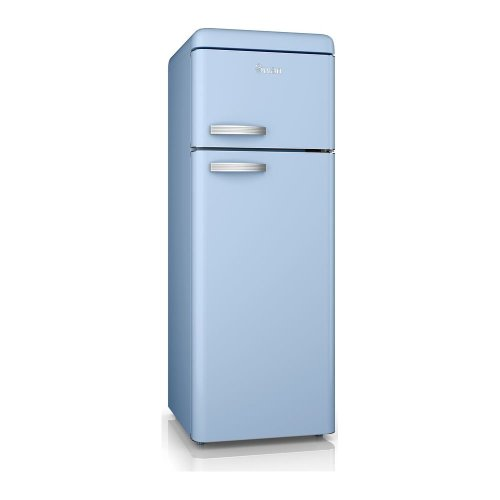 SWAN SR11010BLN Fridge Freezer - Blue, Blue