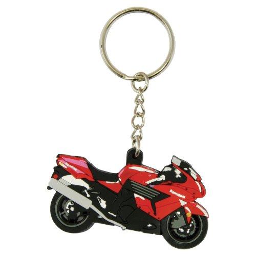 Kawasaki ZZR 1400 rubber key ring motor bike cycle gift keyring