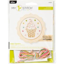 "Bucilla/My 1st Stitch Mini Stamped Embroidery Kit 4""-Sweet Thoughts"