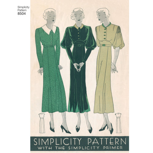 Simplicity Misses' Vintage Dress-4-6-8-10-12