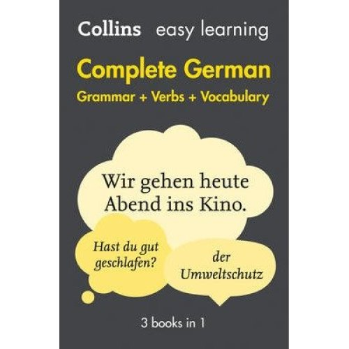 Collins Easy Learning German: Easy Learning German Complete Grammar, Verbs and Vocabulary (3 Books in 1)