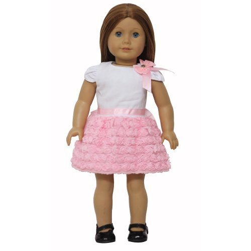 AGD Palace  for 18 American Girl Doll Clothes Sweet Pink Rose Dress