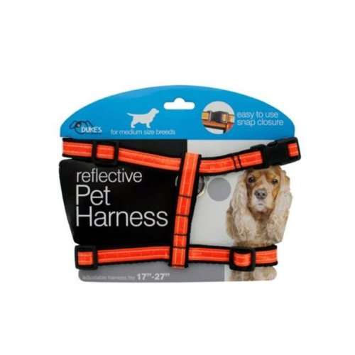 Kole Imports DI552-12 Medium Reflective Dog Harness - Pack of 12