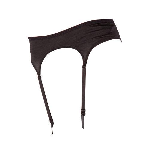 Silky Womens/Ladies Narrow Satin Black Suspender Belt  Medium (UK Dress 12) (Black)