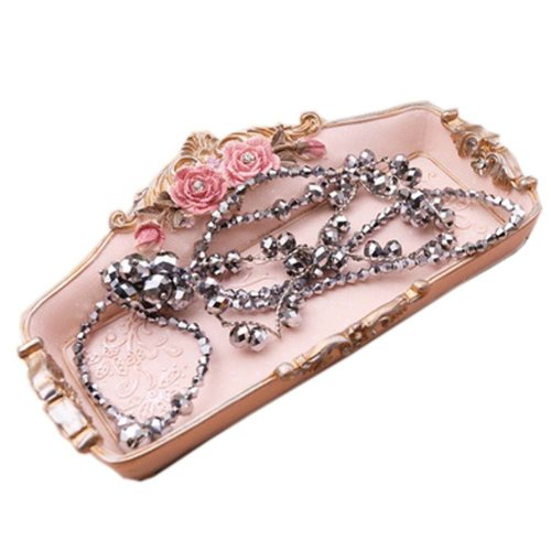 Elegant and Retro Jewelry Box Rings Earrings Organizer Necklace Case/Tray Great Gift, F
