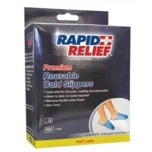 Rapid Relief Premium Reusable Cold Slippers Relief for Pain & Swelling