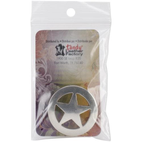 "Concho Antique Silver Screwback 1.25""-Ranger Star"