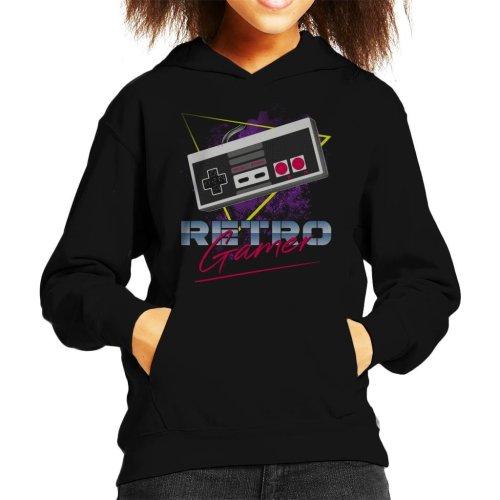 Retro Gamer SNES Controller Kid's Hooded Sweatshirt