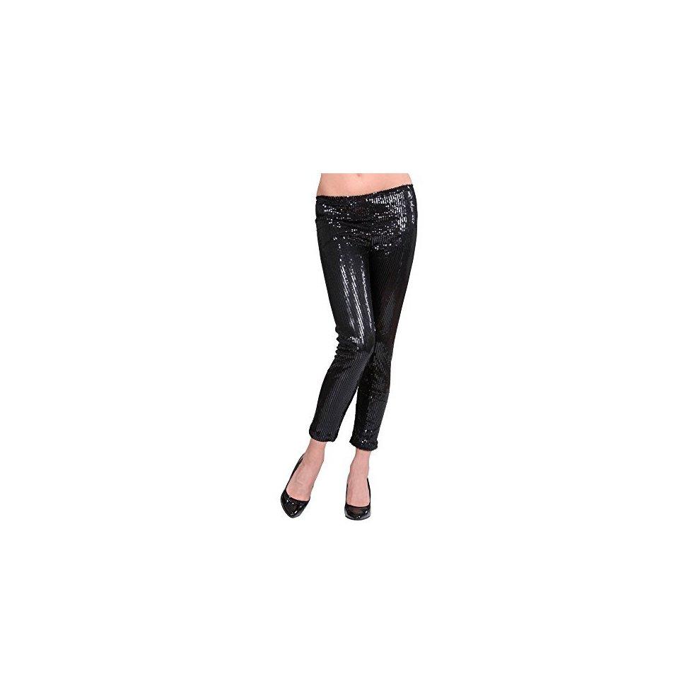Black Sequin Leggings Costume For 50s 60s 80s Retro Fancy Dress Up Outfits -  sc 1 st  OnBuy & Black Sequin Leggings Costume For 50s 60s 80s Retro Fancy Dress Up ...