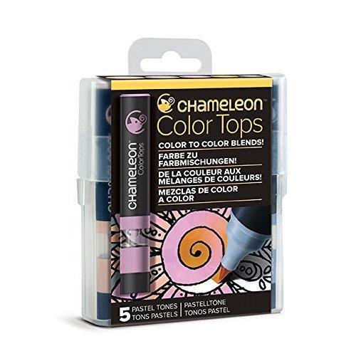 Chameleon Art Products Chameleon Color Tops, Pastel Tones 5-Pen Set