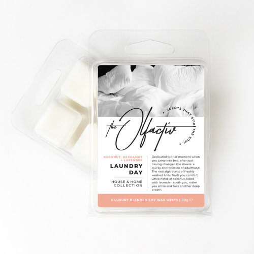 Wax Melts, 80g - Laundry Day (Coconut, Bergamot and Lavender)
