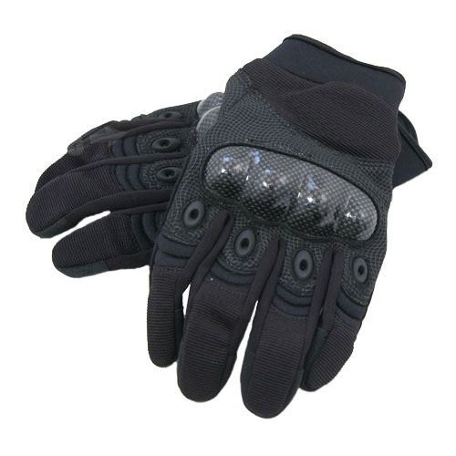 Airsoft  Gloves  Black Xl Knuckle Protector Carbon