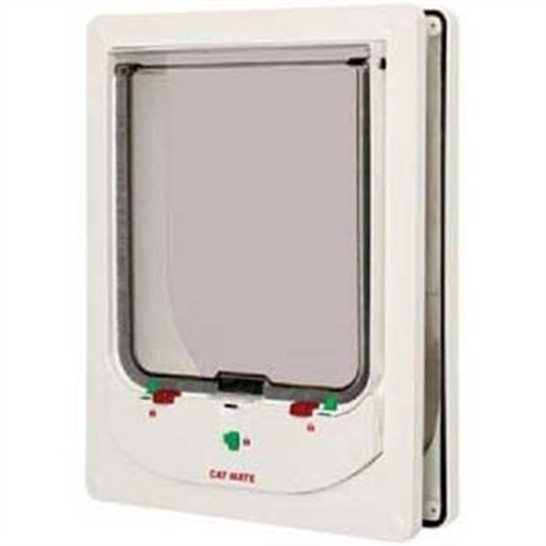 Cat Mate 363W Electromagnetic Large Cat or Small Dog Door - White