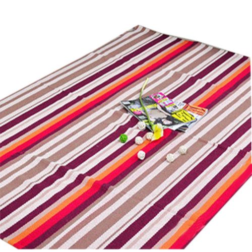 Colourful Striped Cotton Chair Mats Retro Chair Carpet for Flooring 23*35 Inches