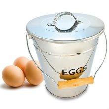 Eddingtons Egg Storage Pail - Collect Store Stainless Steel Eggs -  eddingtons egg storage pail collect store stainless steel eggs