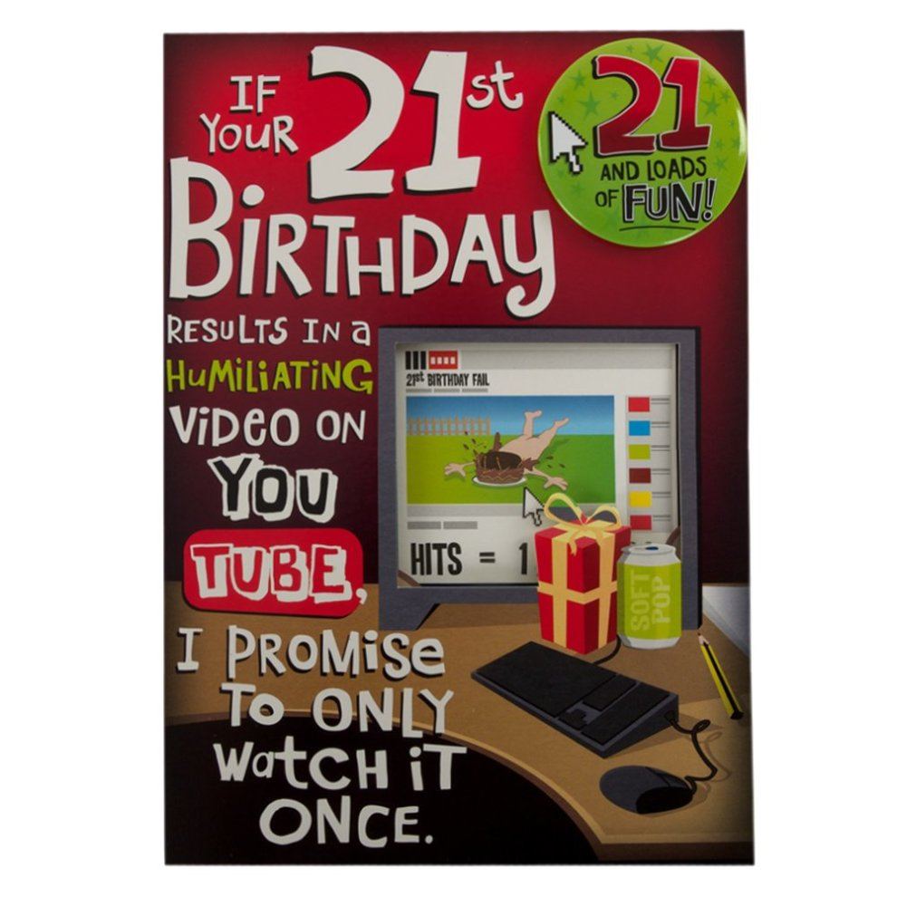 Hallmark 21st Birthday Card For Him Youtube