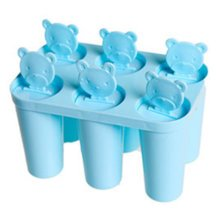 Cute Practical Ice Cube Tray Jelly Tray Mold for Summer, Blue
