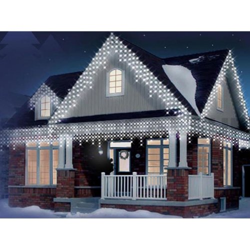 360 LED White Christmas Icicle Snowing Xmas Lights Party Outdoor