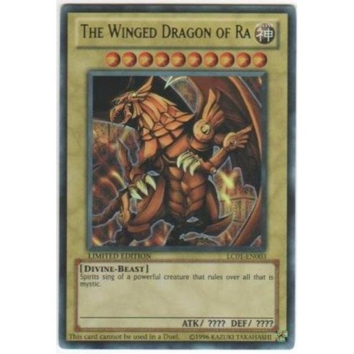 YuGiOh The Winged Dragon of Ra (LC01EN003) Legendary Collection Limited Edition Ultra Rare