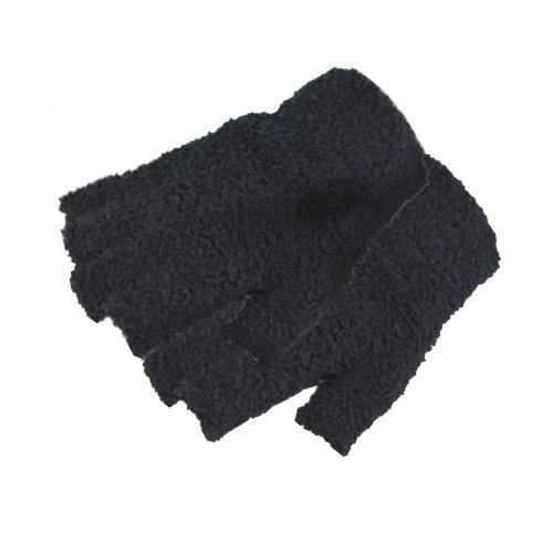 Women's/Girls Winter Fingerless Plush Gloves,1 Pair,black
