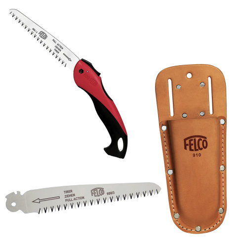 Felco F600 Pruning Saw bundle - 600 Saw - spare blade - leather hoster
