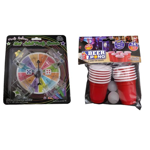 Party Spinner 2 In 1 Adult Party Game And Classic Game Beer Pong - 2 Items Supplied