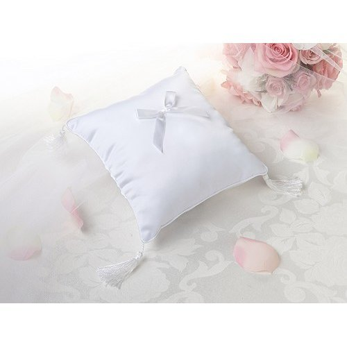 Plain Satin Ring Cushion White