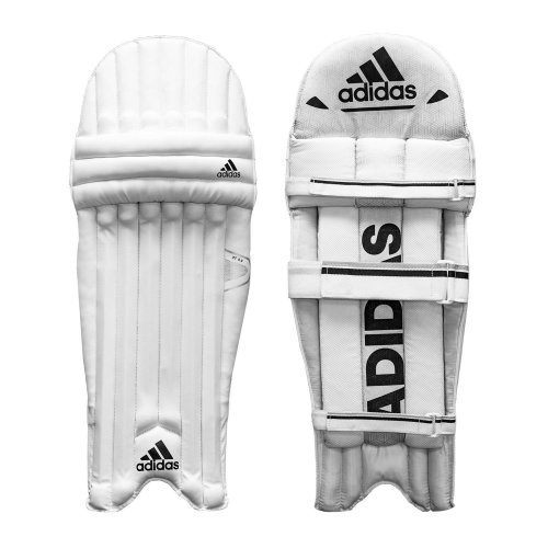 adidas XT 5.0 Kids Cricket Batting Pads Leg Guards Protection White/Black