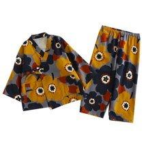 Autumn&Winter Cotton Kimono Children 's Kimono Pajamas Cherry Pattern Tracksuit