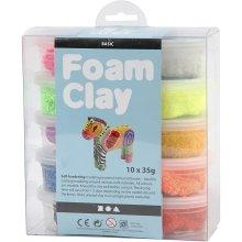 Foam Clay® Asstd Colours Basic 10x35g Bright Mix Self Hardening