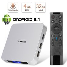 Android TV Box Superpow TV Box Android 8.1 4GB RAM 32GB ROM 2.4G Voice Remote Rockchip 3328 Quad-core Cortex-A53 Up to 1.5GHz WiFi Support 4K Full...