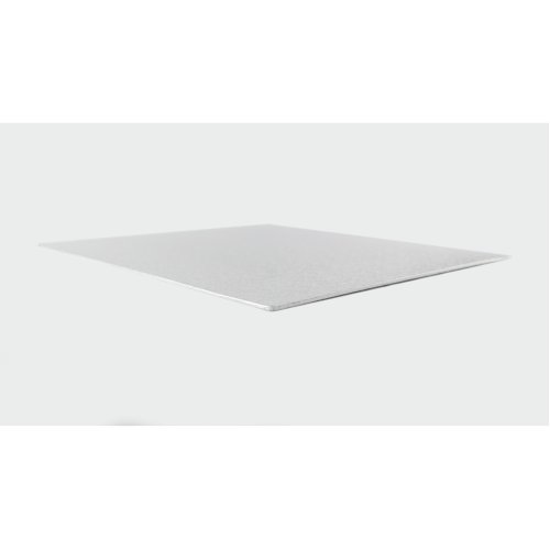 "12"" Thin Silver Square Cake Board 3mm Thick"