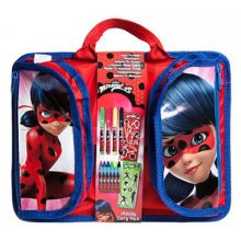 Miraculous Travel Desk With Pockets - Official Back School Stationery Set Pen -  official miraculous back school stationery set pen pencil marker