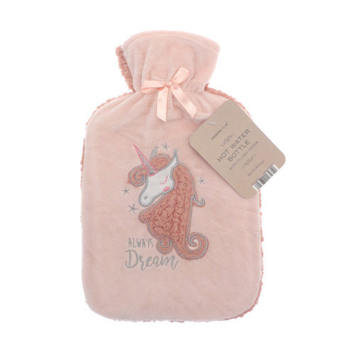 Country Club Plush Applique Hot Water Bottle, Always Dream