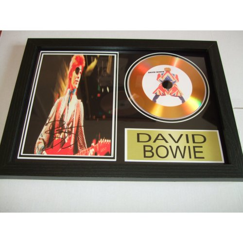 DAVID BOWIE  SIGNED DISC