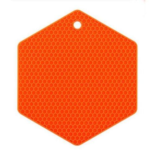 Set of 3 Creative  Honeycomb Pot Holders Durable Nonslip  Insulation Mats Orange