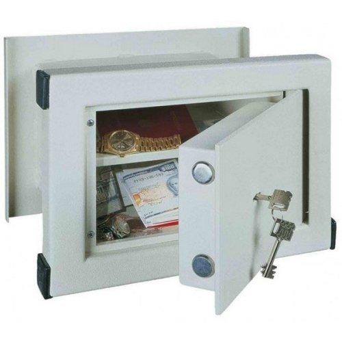 Wall Safe Key Lock Home Office Steel Rottner WN26