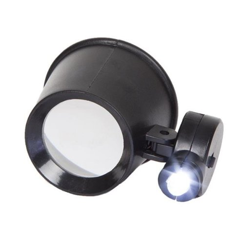 Stalwart 75-MAG1007 10X Magnification Jewelers Eye Loupe with Adjustable LED