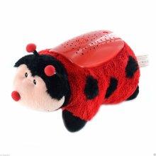 Pillow Pet Night Light Kids Toy Cuddly Animal Cushion Cuddle Dream Sky Lites[Ladybird]