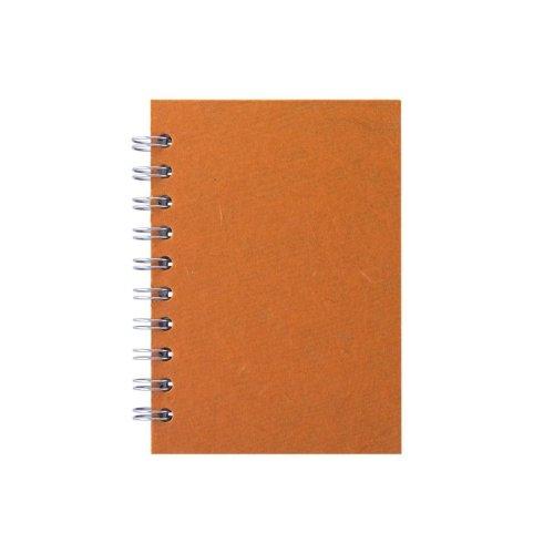 Pink Pig A6 Portrait, Orange - Notebook Lined Paper 70 Leaves