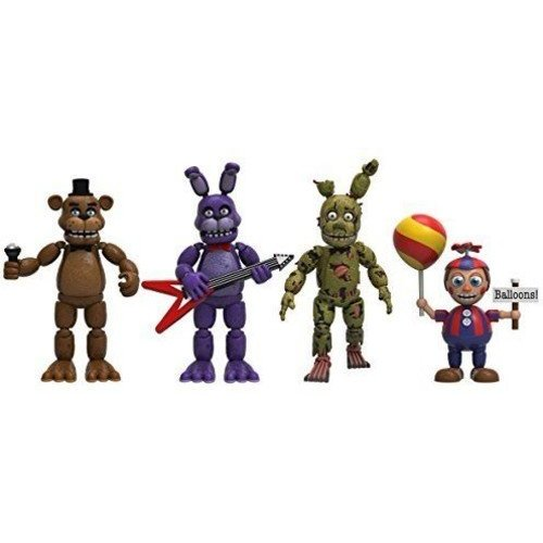 Funko Five Nights at Freddy's Action Figure Set 4 Pack - Freddy, Bonnie, Spring trap and Balloon Boy