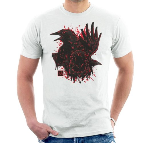 22feaaefd Karasu Japan Crow Men's T-Shirt on OnBuy