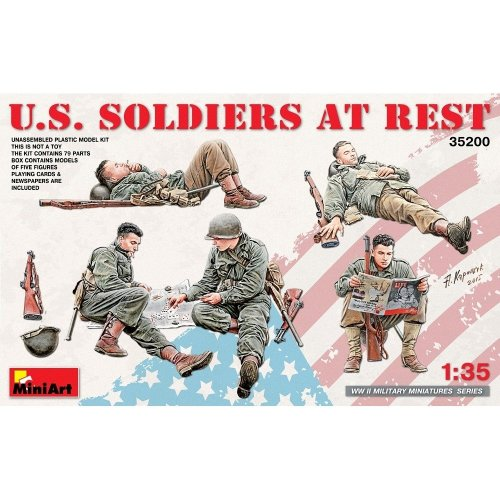 Min35200 - Miniart 1:35 - Us Soldiers at Rest
