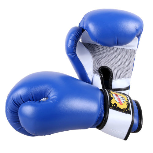 Premium Boxing Gloves MMA Muay Thai Training  for Fighters - Blue