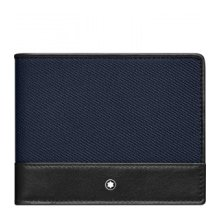 MONTLANC PORTFOLIO 6 COMPARTMENTS NIGHTFLIGHT BLACK BLUE 116832
