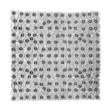 Pebble Design Square Bath Mat, Transparent Grey