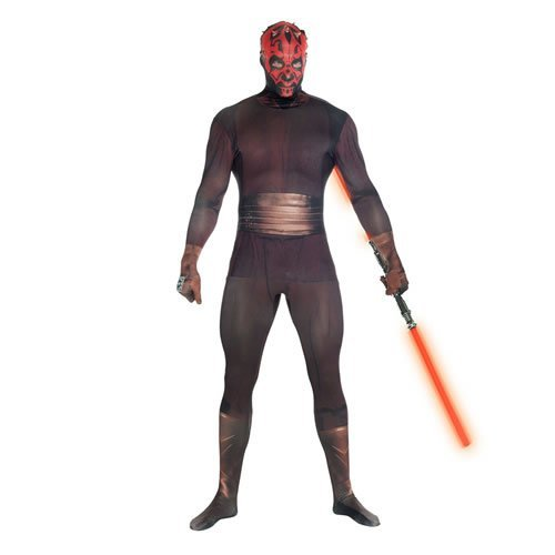 Star Wars Darth Maul Adult Unisex Zapper Cosplay Costume Digital Morphsuit - Medium - Multi-Colour (MLZDMM-M)