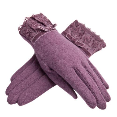 Purple Winter Gloves/ Vintage Women Gloves/ Ladies Warm Glove