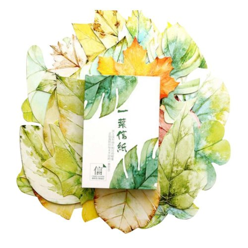 Simple Pattern Postcard Beautiful Postcard Creative Card, Leaf